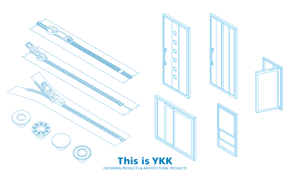 This is YKK FASTENING PRODUCTS & ARCHITECTURAL PRODUCTS